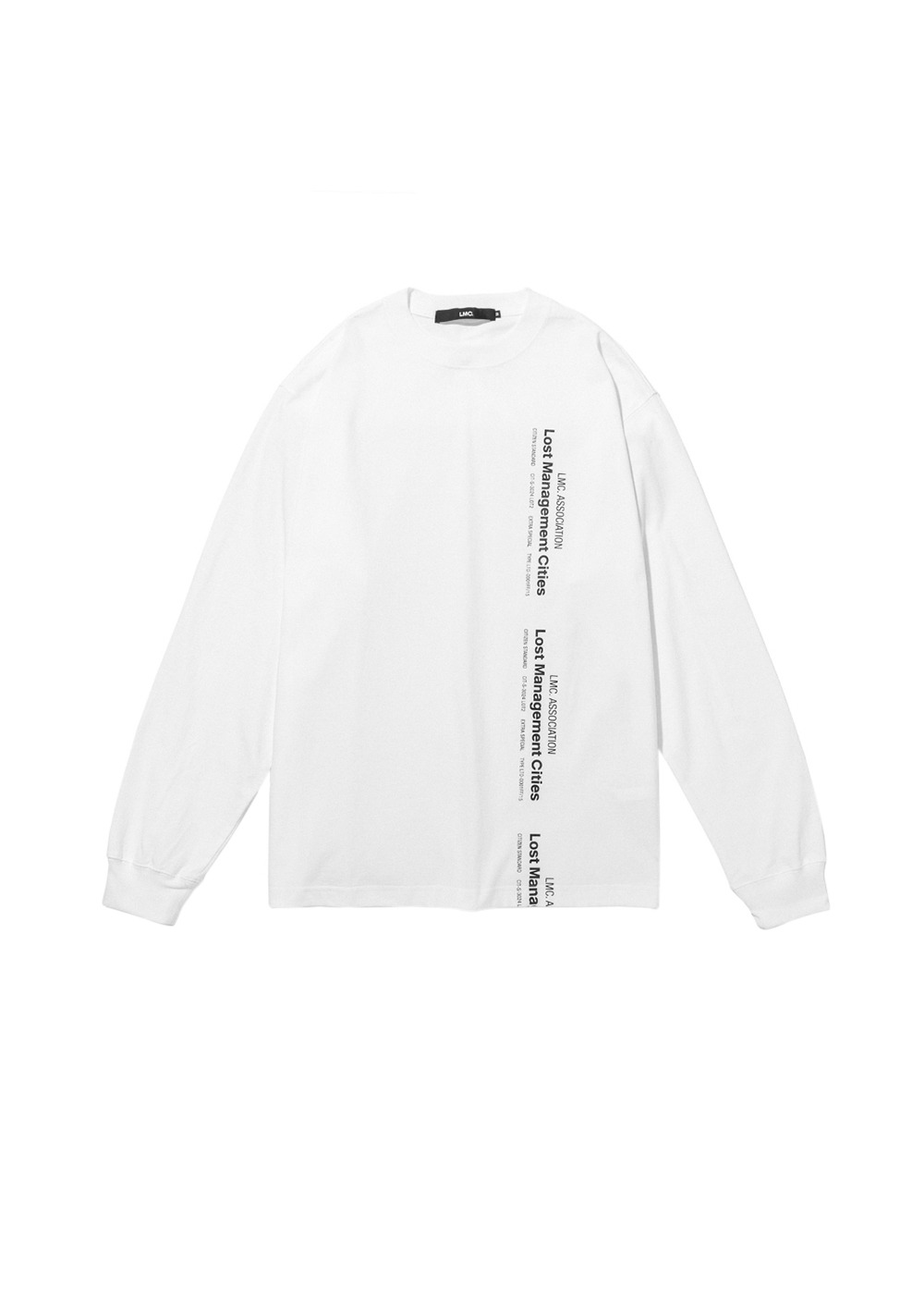 LMC VERTICAL MIL LONG SLV TEE white