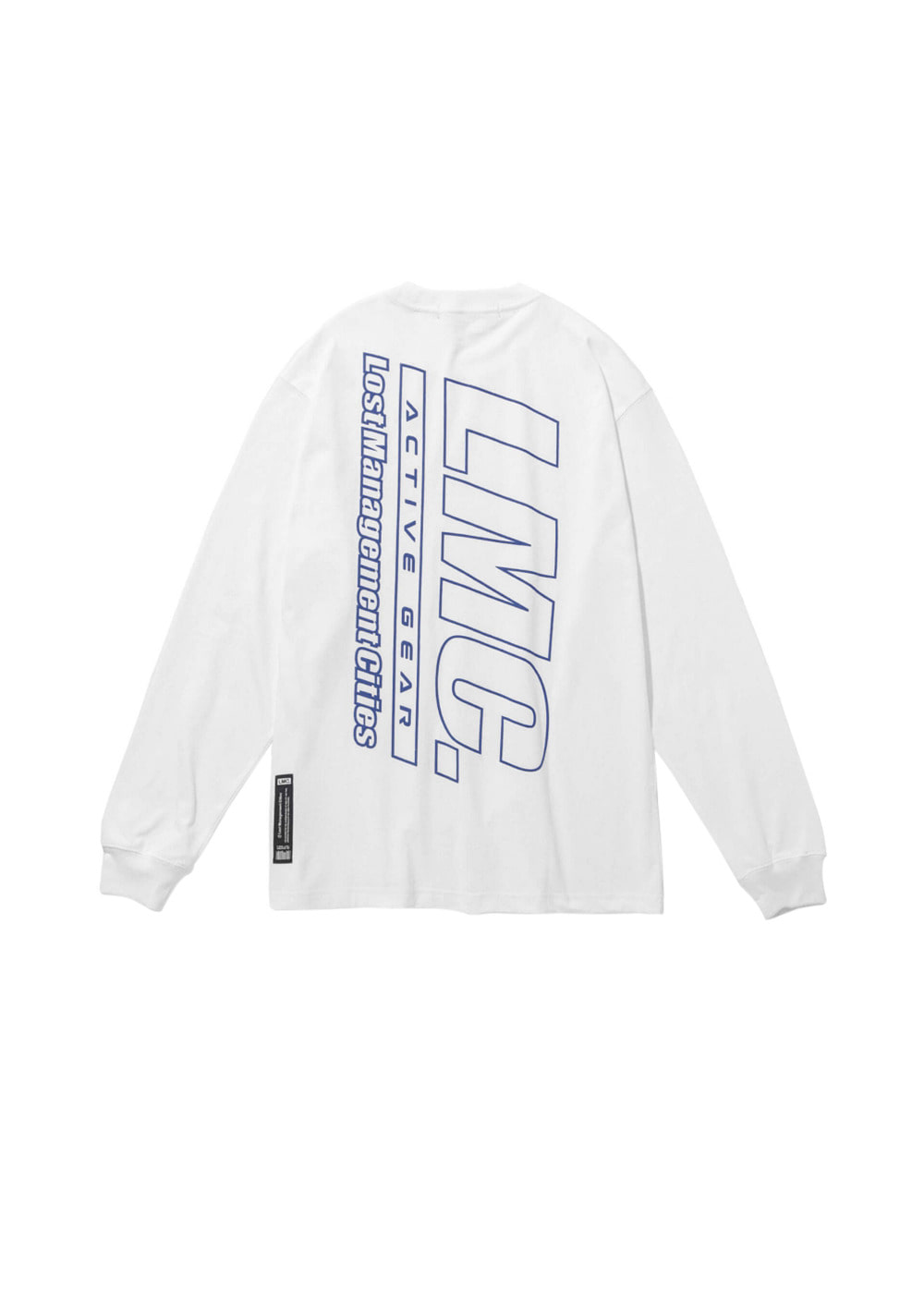 LMC ACTIVE GEAR LONG SLV TEE white