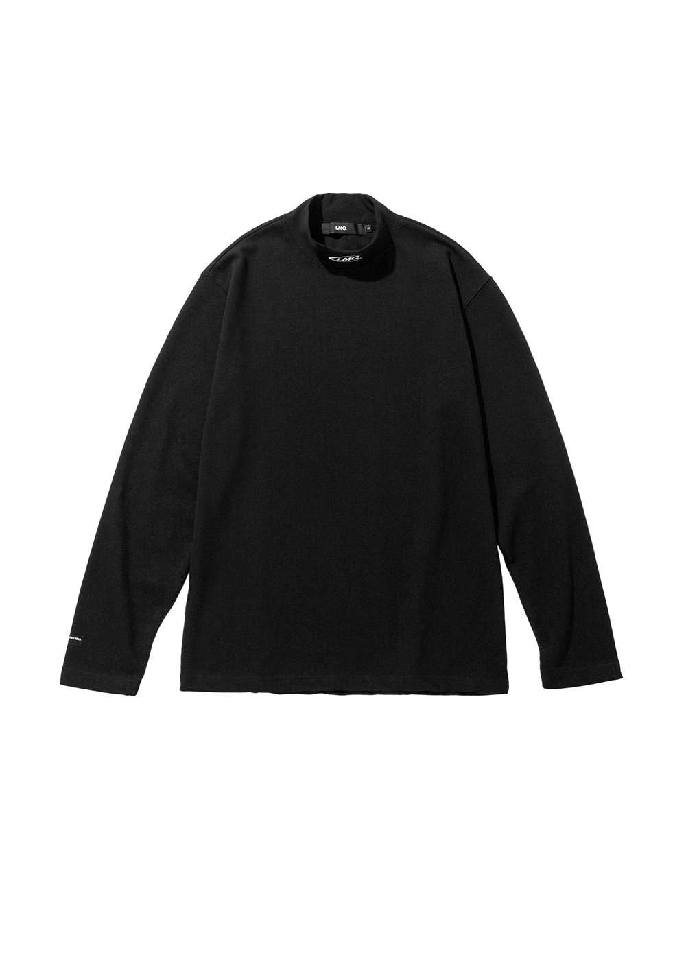 LMC MOCK NECK LONG SLV TEE black