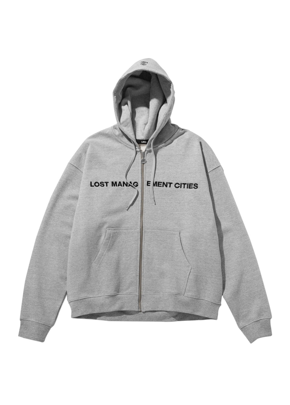 LMC CAPITAL ZIP-UP HOODIE heather gray