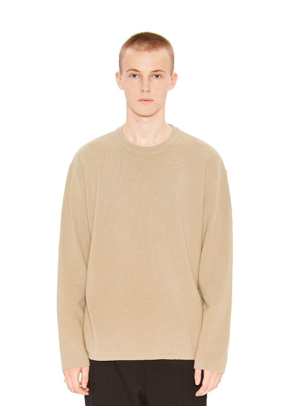CASHMERE KNIT SWEATER beige