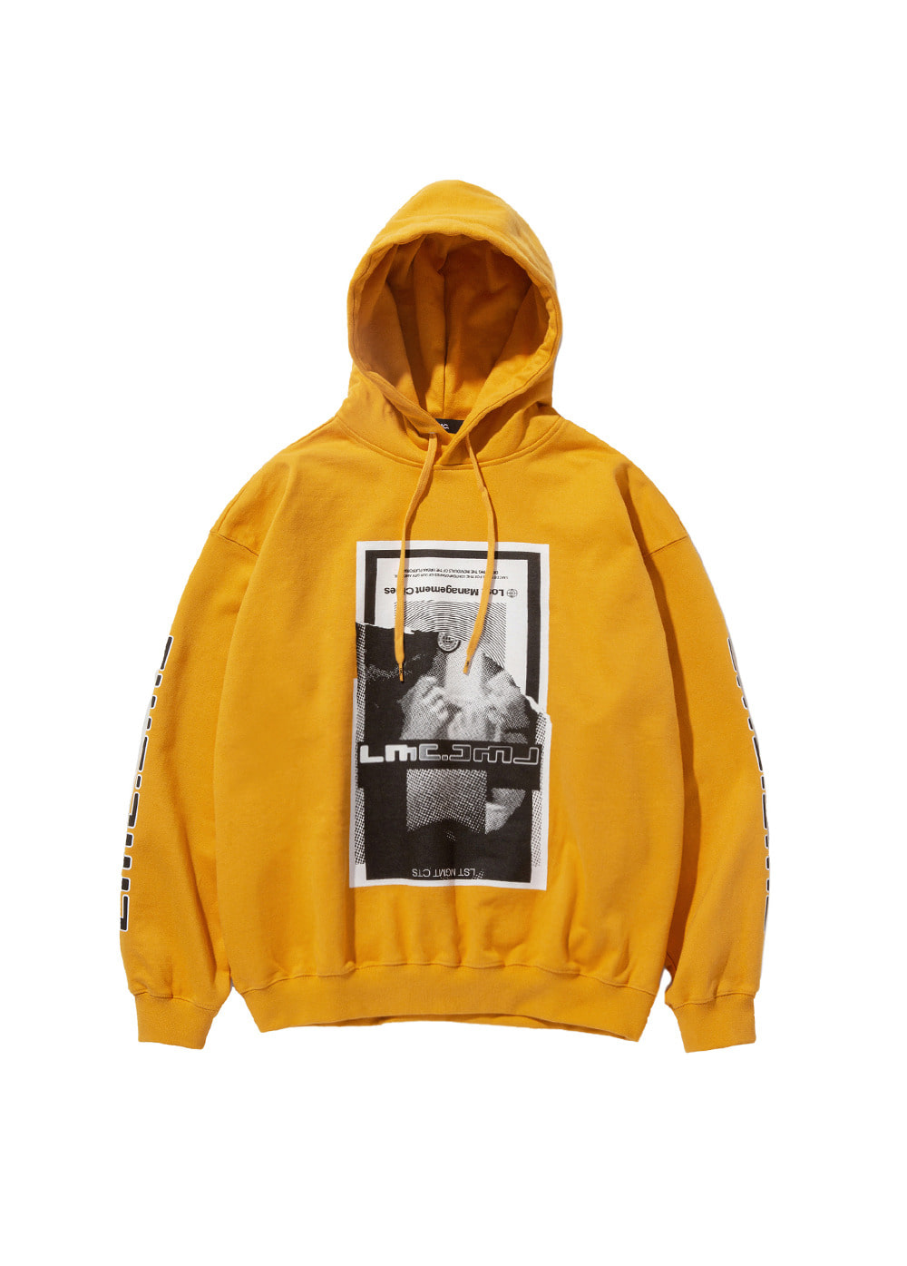 LMC TORN SCRAP OVERSIZED HOODIE yellow