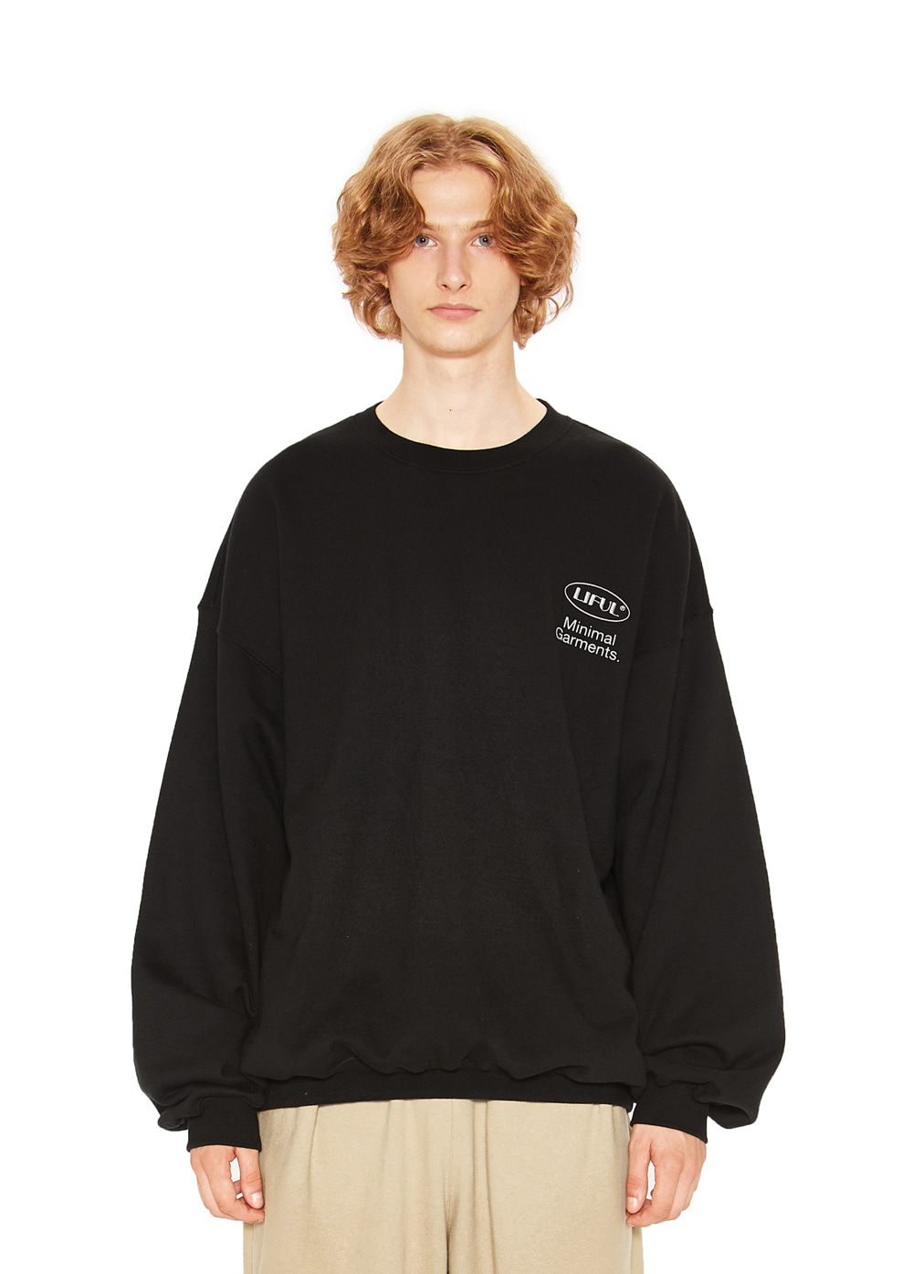 MINI OVAL LOGO SWEATSHIRT black
