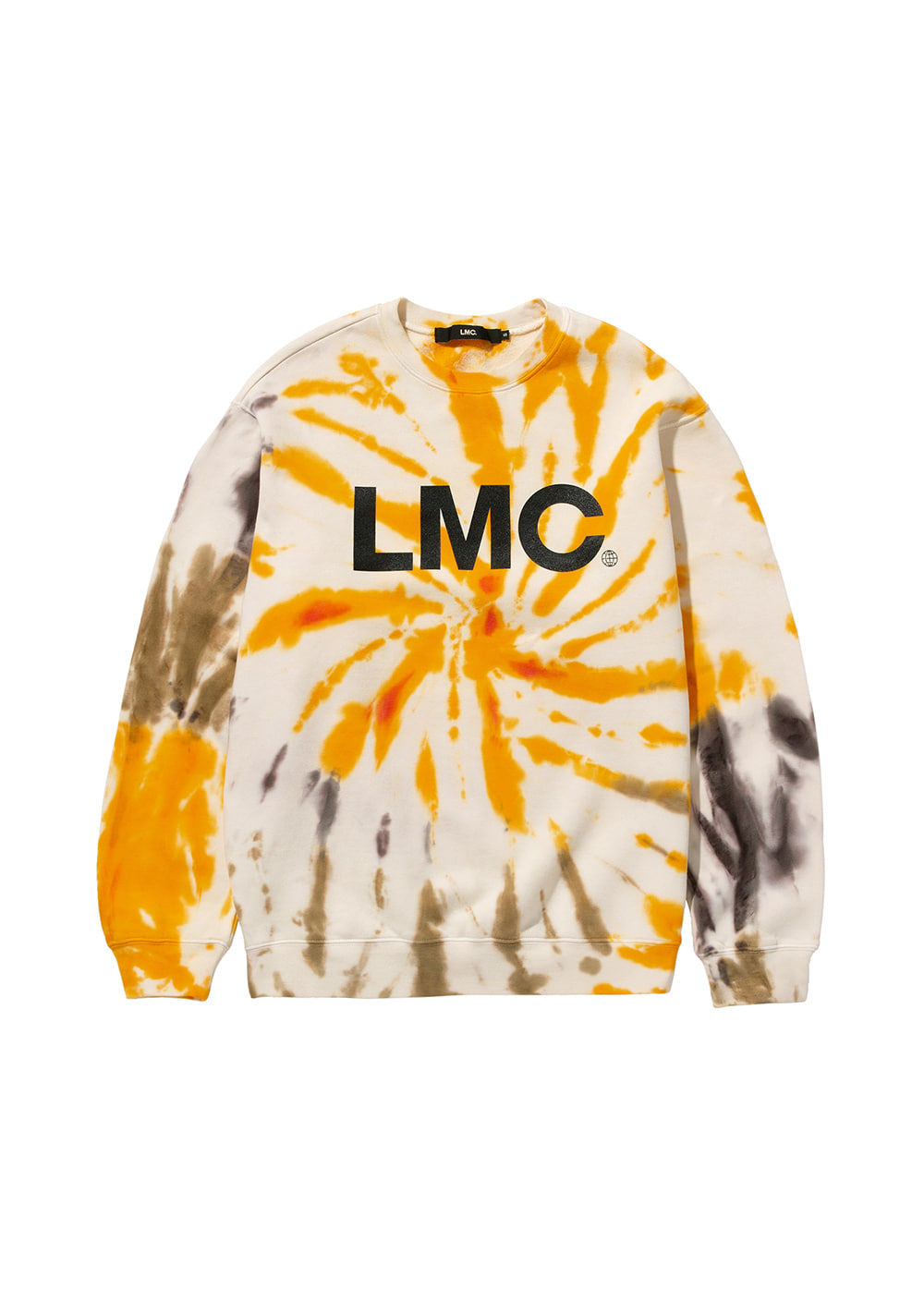 LMC TIE DYE OG WHEEL SWEATSHIRT yellow