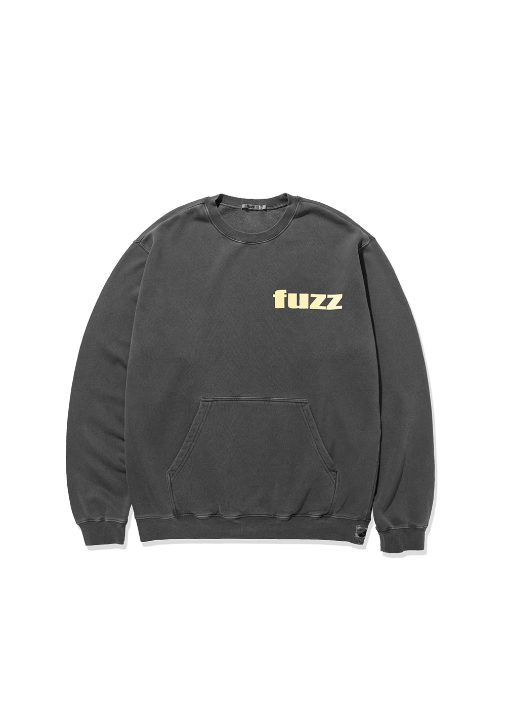 FUZZ PIGMENT DYED POCKET SWEATSHIRT black