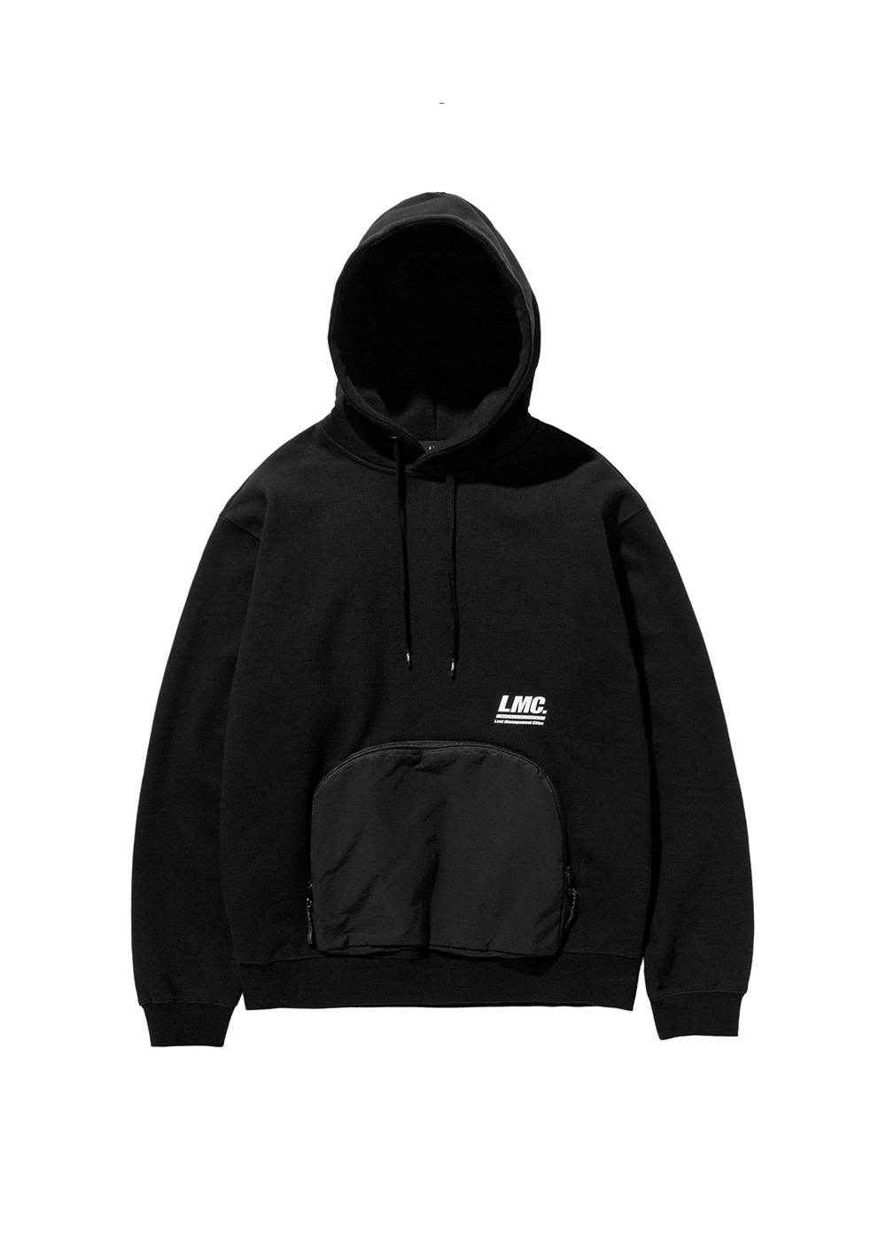 LMC ACTIVE ZIP POCKET HOODIE black