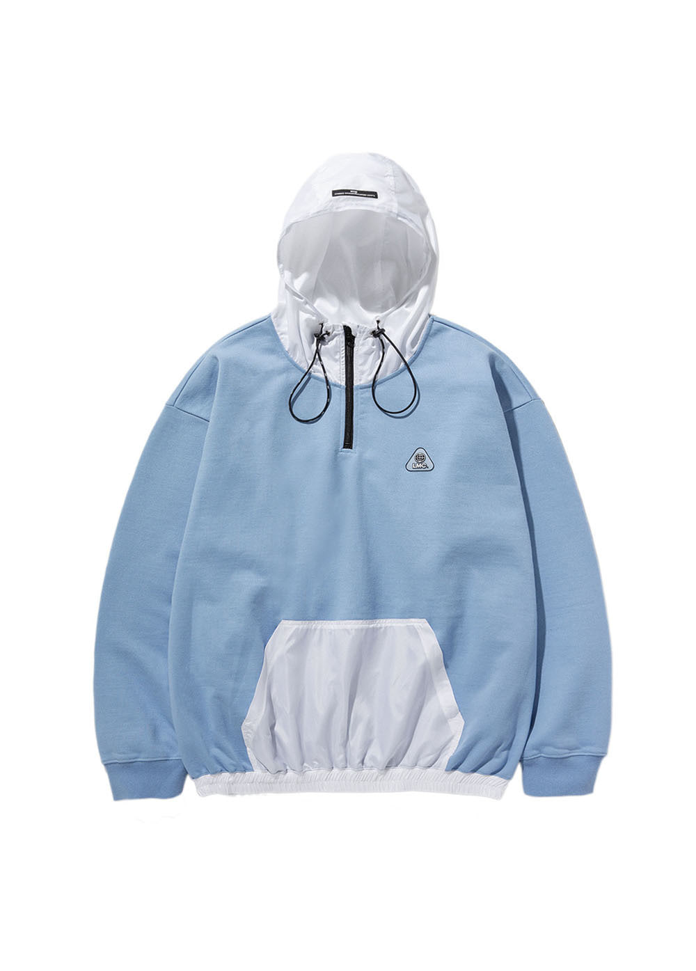 LMC MIX QUARTER ZIP-UP OVERSIZED HOODIE blue